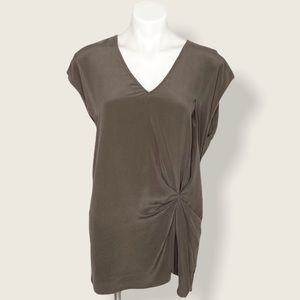 Anthropologie Bailey 44 silk front slouchy tee